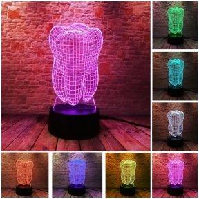 "3D iliuzinė lempa ""Dantis"""