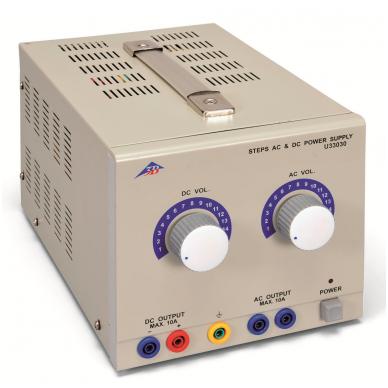 AC/DC maitinimo šaltinis 1/2/3/...15 V, 10 A (230 V, 50/60 Hz)
