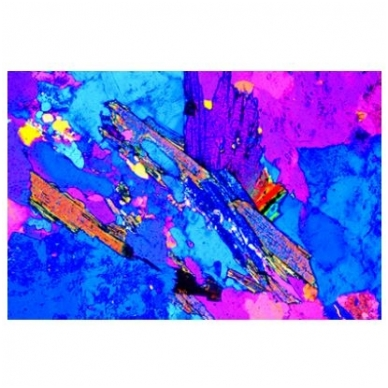 Akmenų ir mineralų objektinių stiklelių mikroskopui rinkinys nr.1 2