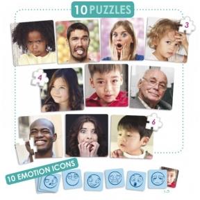 """Dėlionių rinkinys """"Emocijos"""" (10) (2-6 m.; tinka spec.poreikių vaikams)"""