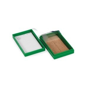 Dėžutė mikroskopo preparatams, 25 vietų