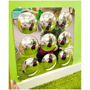 Didelė 9 kupolų akrilo veidrodžių plokštė - 490mm