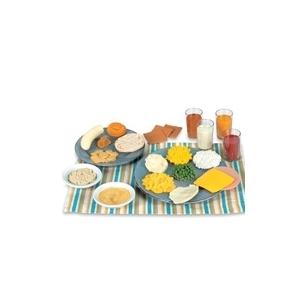 """Dirbtinų maisto produktų modeliai """"Vaikų mityba"""""""