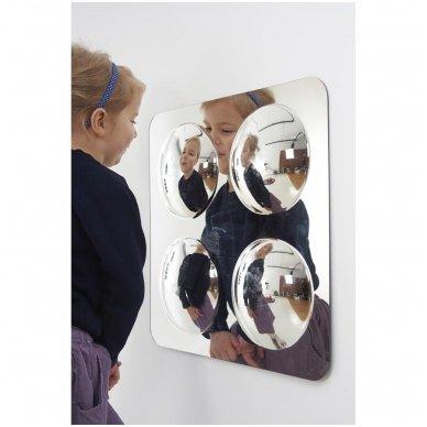 Didelė keturių kupolų akrilo veidrodžių plokštė - 490mm