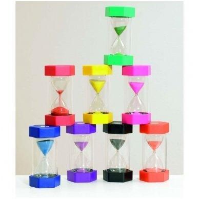 Didelis smėlio laikrodis - 2min (spalva rožinė) 2