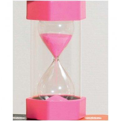 Didelis smėlio laikrodis - 2min (spalva rožinė) 3