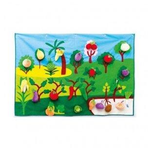 Pakabinamas kilimėlis su vaisiais ir daržovėmis