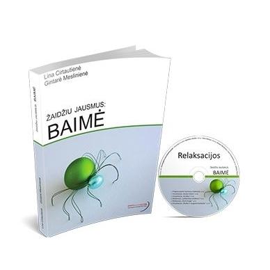 """Knyga """"Žaidžiu jausmus: BAIMĖ"""" ir relaksacijų CD"""