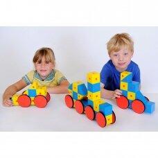 """Konstruktorius """"3D magnetinės kaladėlės"""" didelis rinkinys"""