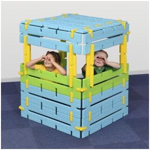 Konstruojama slėpykla vaikams