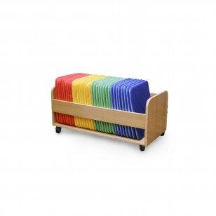 Kvadratinės pagalvėlės su vežimėliu (32 vnt.)