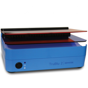 """Transiluminatorius TruBlu ™ 2"""" ,mėlynas / baltas apšvietimas, 27 x 15 cm"""
