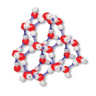 Ledo, H2O kristalo modelis (rink.)