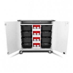 LEGO Mindstorms EV4 įkrovimo ir saugojimo mobilus vežimėlis