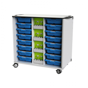 LEGO WeDo įkrovimo ir saugojimo mobilus vežimėlis