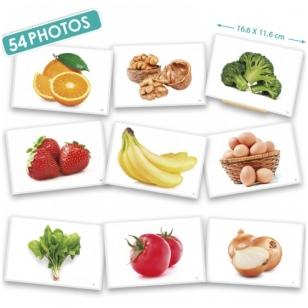 Maisto nuotraukų kortelės