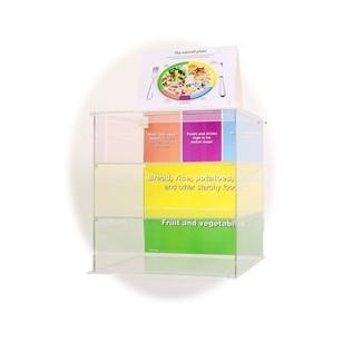 """""""Maitinkis sveikai"""" organinio stiklo stendas (be dirbtinių maisto produktų)"""