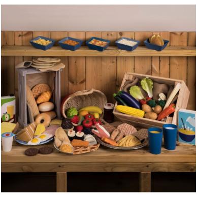 Maisto produktų rinkinys (93 dalys)
