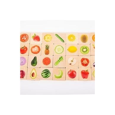 """Memo tipo žaidimas ,,Vaisiai ir daržovės"""" 2"""
