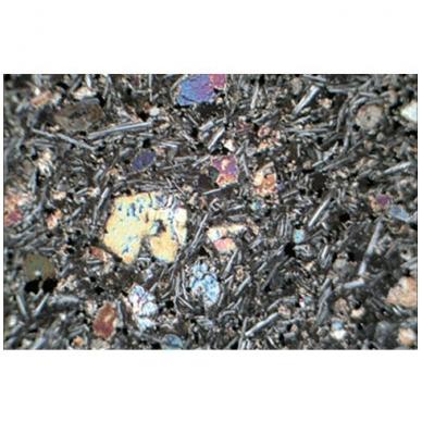 Metamorfinių akmenų ir mineralų objektiniai stikleliai mikroskopui (29 vnt.) 3