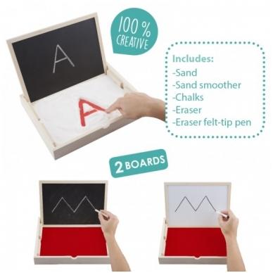 Sensorinis padėklas su rašymo lenta