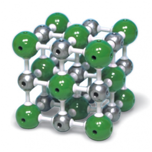 Natrio chlorido modelis, 27 atomai