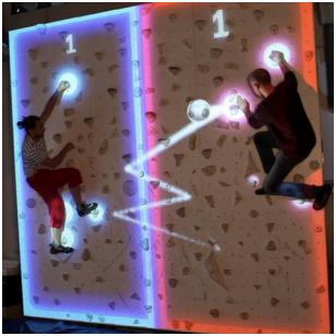 """Papildytos realybės laipiojimo siena """"Valio! Laipiojimui"""""""
