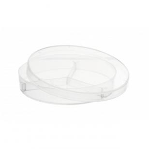 Petri lėkštelės su trimis skyriais, plastikinės, matmenys 90x16 mm, 20 vnt.