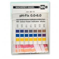 pH indikatorius juostelėmis (matavimo diapazonas pH 0 – 6)