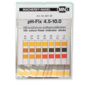 pH indikatorius juostelėmis (matavimo diapazonas pH 4,5 – 10)