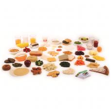 Piramidės dirbtinų maisto pavyzdžių išplėstasis paketas (57 vnt.)