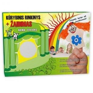 Pirštelių kūrybinis lėlių rinkinys - 8 lėlės