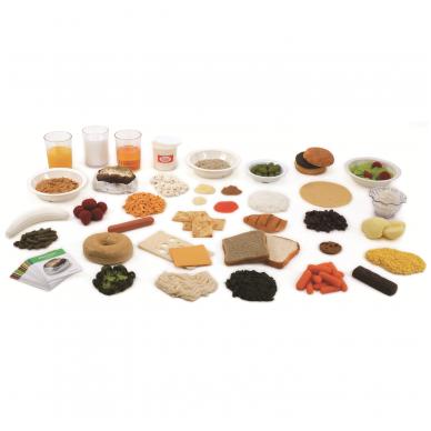 Piramidės dirbtinų maisto pavyzdžių startinis paketas (40 vnt.)