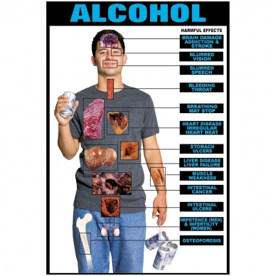 """Plakatas """"Alkoholis"""""""