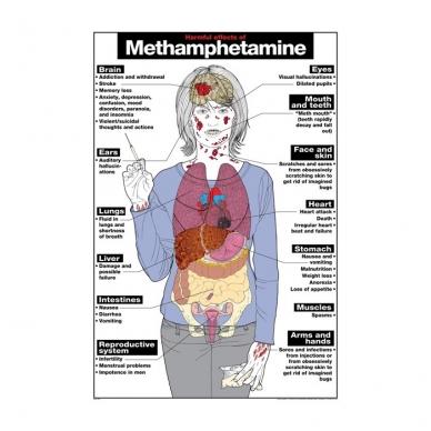 """Plakatas """"Metamfetaminas"""""""