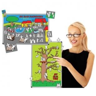 """Rinkinys: magnetinė lenta """"BLOB medis ir BLOB žaidimų aikštelė"""" su magnetais"""