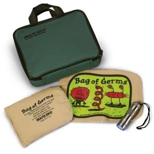 Rinkinys: mikroorganizmai maišelyje, UV žibintuvėlis