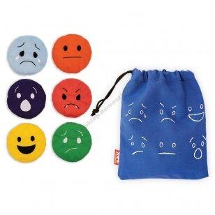 Sensorinės emocijų pagalvėlės, 6 vnt.