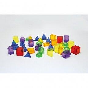 Skaidrios geometrinės formos, 36 vnt.