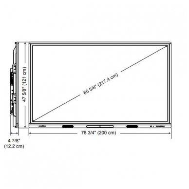"SMART Board MX086 interaktyvus ekranas su iQ moduliu, ekranas 86"" 3"