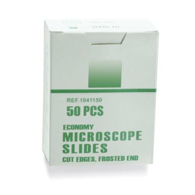 Stikliniai preparatai mikroskopams, 50 vnt.