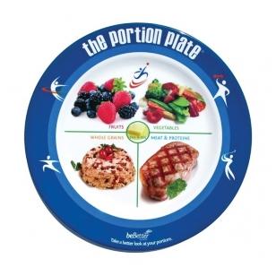 Suaugusiojo maisto porcijų dydžio lėkštė