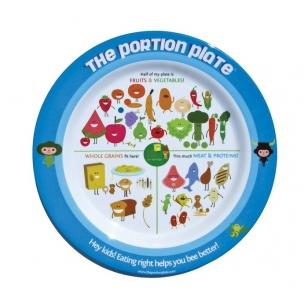 Vaiko maisto porcijų dydžių lėkštė