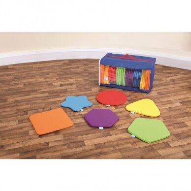 Vaivorykštės spalvų įvairių formų pagalvėlių komplektas, 32 vnt. 3