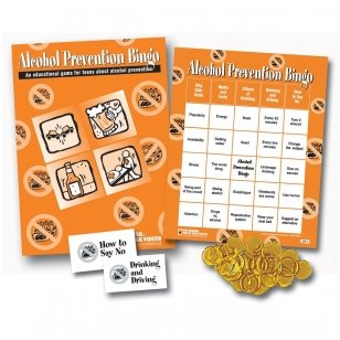 """Žaidimas """"Alkoholio prevencija Bingo"""""""