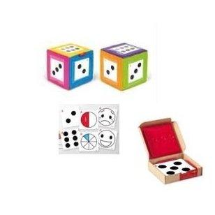 Žaidimo kauliukas su kišenėlėmis ir kortelėmis