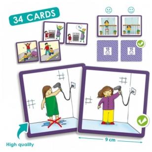 """Žaidimų kortelės ,,Tinkamas elgesys: prevencija ir sauga"""""""